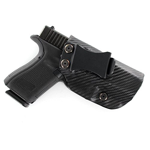 Glock, Black Carbon Fiber, Kydex Concealment IWB Gun Holsters. Left & Right versions available.