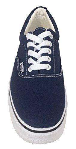 Herren Sneaker Bootsschuhe, nautischer Look auf besonders softer und angenehmer Weise mit praktischer Grip-Sohle und leichter bequemer Fütterung innen, Größen 40 - 45 Marine
