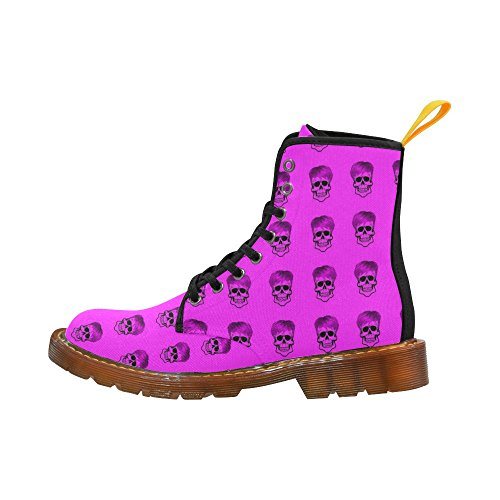 LEINTEREST Funny Skull Pattern, pink Martin Boots Fashion Shoes For Men