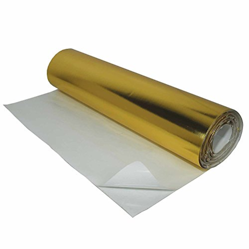 Heatshield Products (707009) Gold Heat Shield (With Adhesive), 24'' x 50 Feet by Heatshield Products