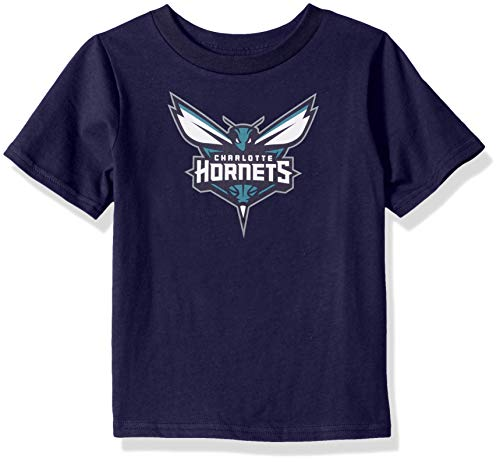(Outerstuff NBA NBA Kids & Youth Boys Charlotte Hornets Primary Logo Short Sleeve Basic Tee, Dark Purple, Youth Small(8))