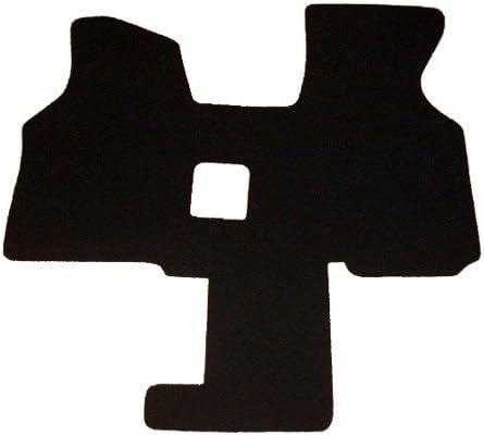 Autix 233 Fußmatte Schmutzfangmatte Vließvelour Schwarz 2 Sitzer Auto