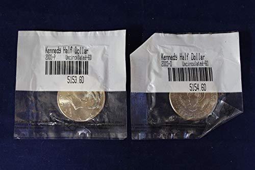 x2 P&D Unc. Kennedy Half Dollars (CC2717)