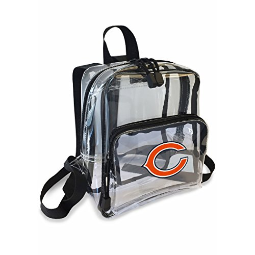 The Northwest Company Officially Licensed NFL Chicago Bears Unisex X-Ray Mini Stadium Friendly Transparent Backpack Chicago Bears Nfl Stadium