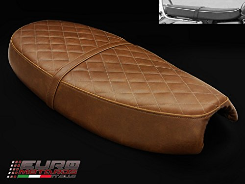 (Triumph Scrambler 2006-16 & Bonneville/T100 2000-15 Luimoto Flat Top Vintage Seat)