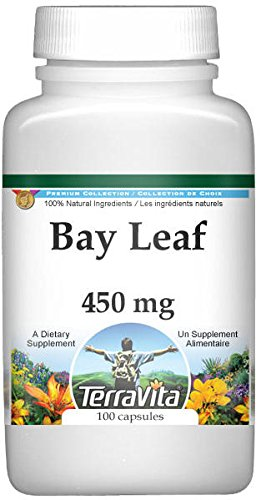 Bay Leaf - 450 mg (100 Capsules, ZIN: 511895) - 3 Pack by TerraVita (Image #1)
