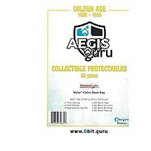 Aegis Guru 50 Golden Age 2 mil Resealable Mylar Comic Bags