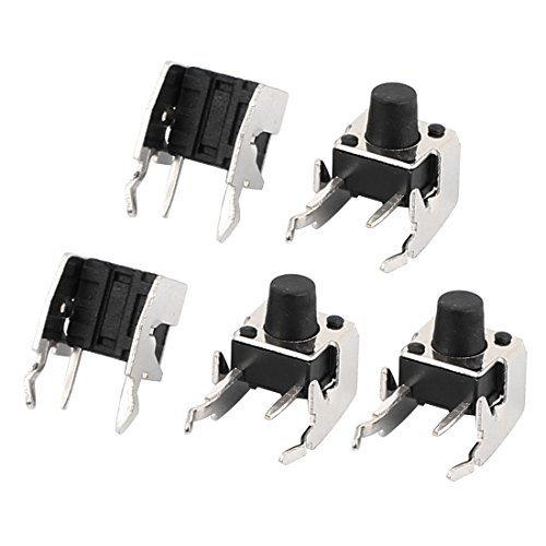 uxcell 5Pcs 4Pin 6mmx6mmx7mm Panel PCB Momentary Tactile Tact Push Button Switch DIP / uxcell 5Pcs 4Pin 6mmx6mmx7mm Panel PCB Momentary Tactile Tact Push Button Switch DIP