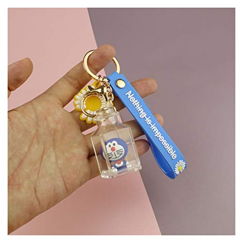 zhenxin Keychain Children Doll Bottle Mickey Mouse Stitch Keychain Bag Pendant Small Gift Bag Keychain Pendant Event Souvenirs (Color : 4)