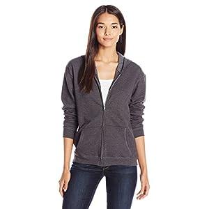 Hanes Women's Full-Zip Hooded Jacket, Slate Heather, Medium