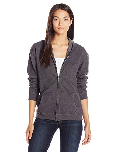 Hanes Women's Full-Zip Hooded Jacket, Slate Heather, x Large