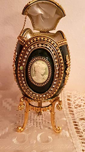 - RARE Green Russian egg FABERGE style egg musical egg box Collector showpiece/FABERGE EGG style photo frame egg/HANDMADE Fabergé egg style musical trinket egg/Faberge egg handmade Cyprus