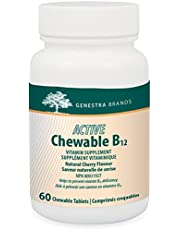 Genestra Brands - Active Chewable B12 - Chewable Vitamin B12 Tablets - 60 Chewable Tablets - Natural Cherry Flavour