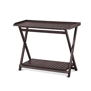 Eucalyptus Outdoor Folding Serving Table (Espresso)
