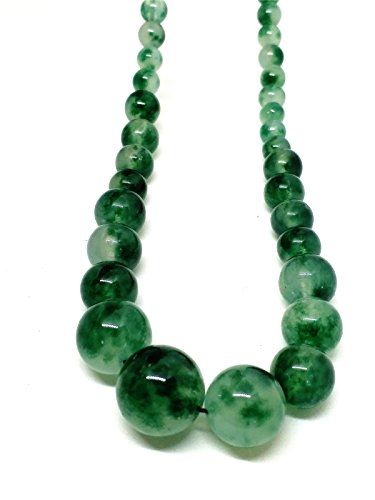 Jade Flowers Necklace (Natural JADE Jadeite Bead Flower Necklace)