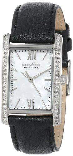 Caravelle New York Women's 43L162 Analog Display Japanese Quartz Black Watch