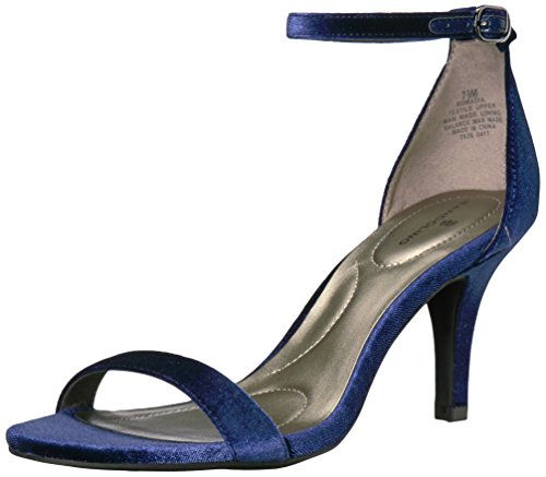 Sandal madia Navy Bandolino Womens Bandolino Heeled Velvet Womens xqzH4wF
