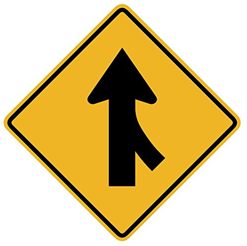 Wallmonkeys WM330820 Merging Traffic from The Right Sign Peel and Stick Wall Decals W x 30 in H, 30
