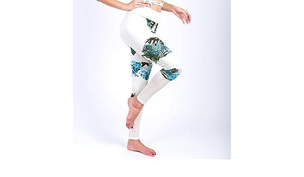 MAYUAN520 Patrón de Malla Femenino Imprimir en Blanco para Mujeres Fitness Entrenamiento Deportivo Leggins Pantalones elásticos Leggings Pantalón Slim,XL: ...