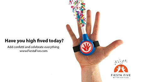 41FLh9GyE2L - FiestaFive - Confetti High Five HandHeld Toy Shooter with 6 Refills - Blast Confetti From Your Hands, Reloadable, Patented Perfect High Five Design, Safe Air Powered Party Favor - Red/White/Blue