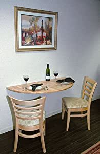 Amazon.com: Drop Leaf Table, Wall Mount, Half-Round Space ...