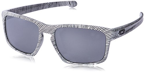 UPC 888392114136, Oakley Men's Sliver White Fingerprint/Black Iridium Sunglasses  One Size