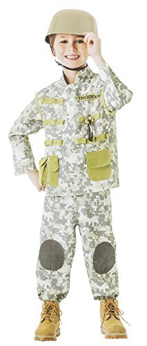 amscan Boys Combat Soldier Costume - Small (4-6), Multicolor -