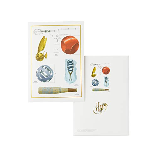 Enesco Wizarding World of Harry Potter Quidditch Stationery Boxed Notecard  Set, 5'' x 7''