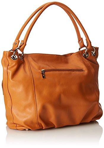 Orange véritable souple de italien Sac fabriqué fourre femme une élégant 35x29x15 Italie cuir CTM dans en Cuoio Cm tout 8cTP4n7q