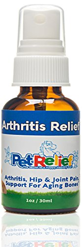 Pet Relief Natural Arthritis Pain Relief Supplement for Dogs, 30ml(40 Day Supply)