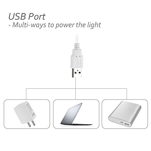 ASOKO-LED-Under-Cabinet-Lighting-Built-in-Magnets-Angle-AdjustableDimmable-3-Color-Temperature-USB-Powered-LED-Light-Bar-Tap-Light