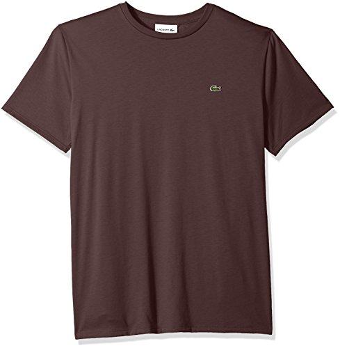 Lacoste Men's Short Sleeve Jersey Pima Regular Fit Crewneck T-Shirt, TH6709-51, Vertigo, (Vertigo Cotton T-shirt)