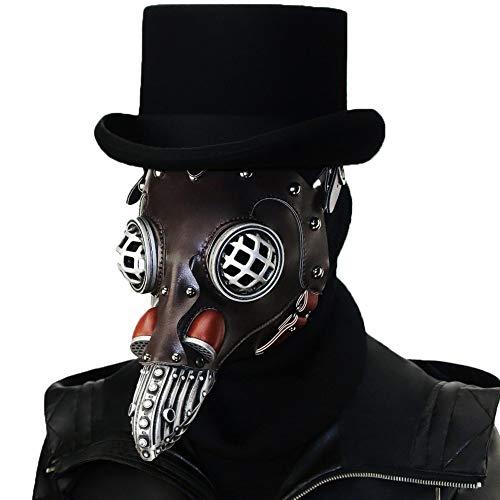 Honfill Plague Doctor Bird Mask Gothic Steam Punk Cosplay Hand Made Costume