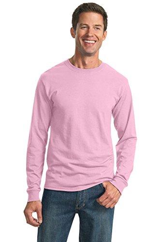 Jerzees Adult Long-Sleeve Heavyweight BlendT-Shirt - Classic Pink - M (Blend Heavyweight Jerzees Youth)