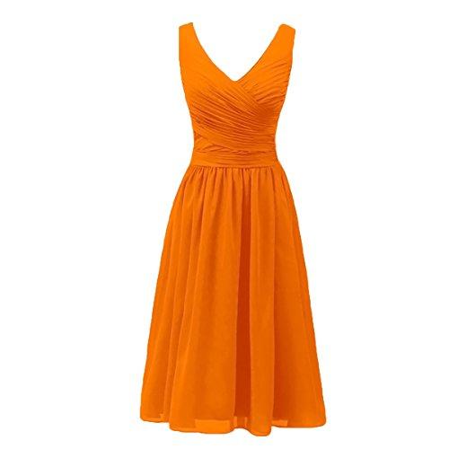 Donne Sposa Della Delle Arancione V Madre Dobelove Vestito collo H1x0wO