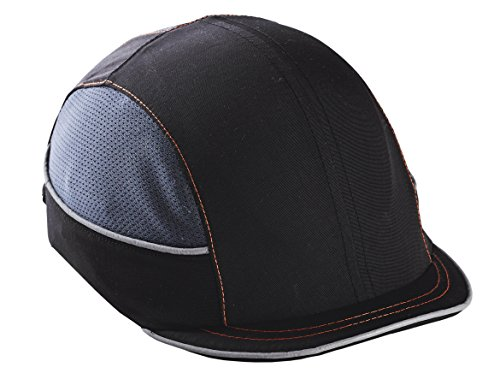 Safety Bump Cap, Baseball Hat Style, Breathable Head Protection, Micro Brim, Skullerz 8950