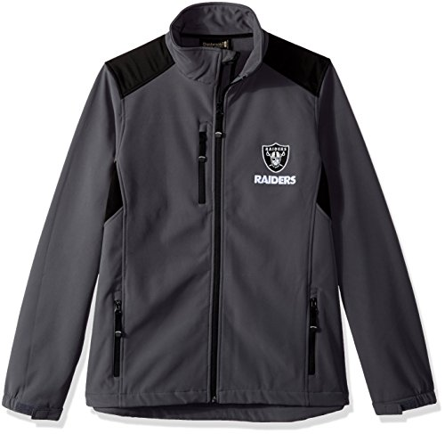 Raiders Polar Fleece Oakland (Dunbrooke Apparel NFL Oakland Raiders Men's Softshell Jacket, Large, Graphite)