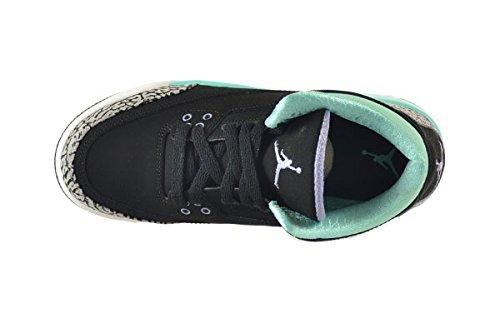 Nike Air Jordan 3 Retro Gg, Zapatillas de Running Para Niñas blk, irn prpl-blchd trq-wlf gry