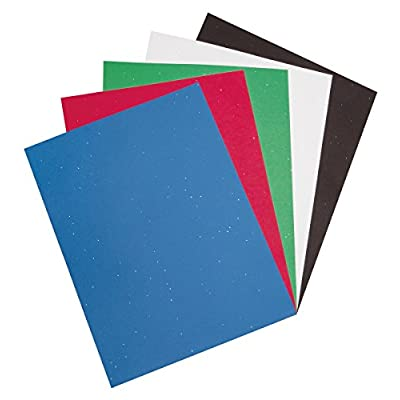 Pacon Glitter Construction Paper Pad, 5 Assorted Colors, 9