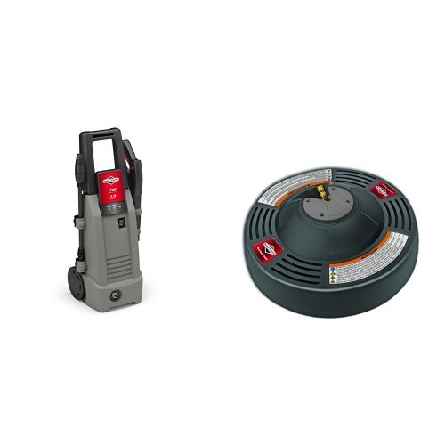 Briggs & Stratton 20654 Electric Pressure Washer, 1700 PSI 1.3 GPM with 14-Inch Surface Cleaner