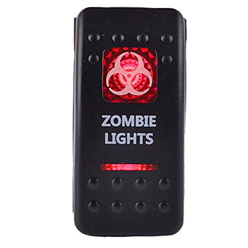 E Support Car Red LED Zombie Light Toggle Switch