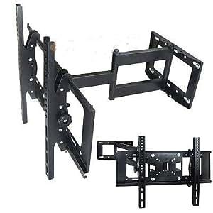 articulating tilt swivel arm lcd led tv wall mount 27 32 36 37 40 42 46 50 55 60. Black Bedroom Furniture Sets. Home Design Ideas