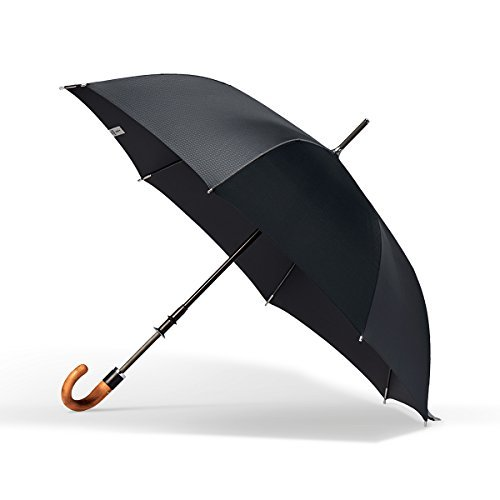 (ShedRain Stratus Collection Manual Stick Crook Umbrella with Malacca Cane Handle)