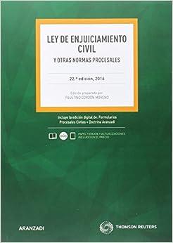 Ley De Enjuiciamiento Civil (22 Ed. - 2016) Epub Descargar Gratis