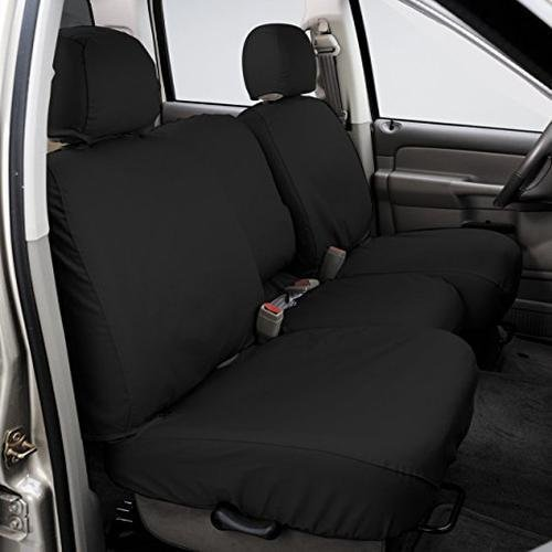 Covercraft SS3435PCCH SeatSaver Front Row Custom Fit Seat Cover for Select Ram Pickup Models - Polycotton (Charcoal) ()