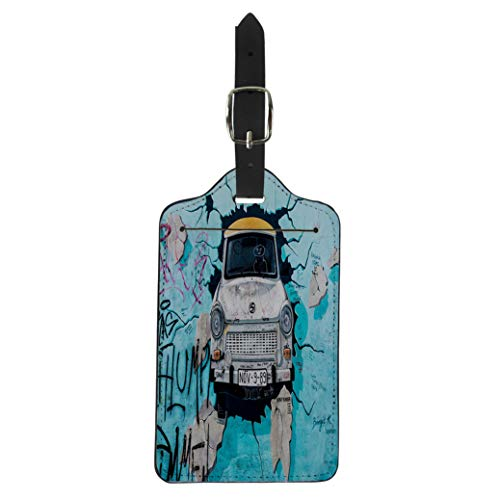 (Pinbeam Luggage Tag Berlin Germany March 20 Wall Graffiti Seen Suitcase Baggage Label)