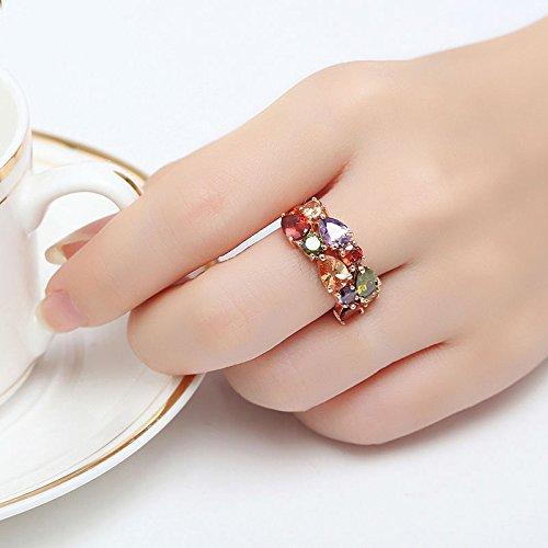 Amazon.com: Anillos Sortijas de Mujer Joyería Fina Moda 2018 Compromiso/ Matrimonio RI0037: Jewelry