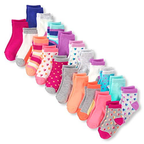 - The Children's Place Baby Girls 20 PACK SOCKS, multi CLR, 3T-4T