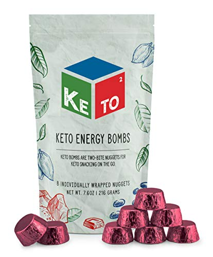 Keto Squared Snack Fat Bombs (8-Pack, Chocolate Dream); Keto² Keto Energy Nuggets for On the Go