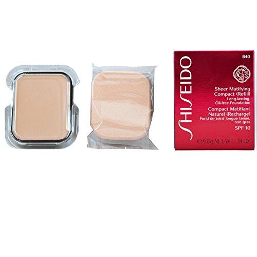 Shiseido/Sheer Matifying Foundation Refill (B40 Natural Fair Beige) .34 Oz (Shiseido Sheer Foundation)